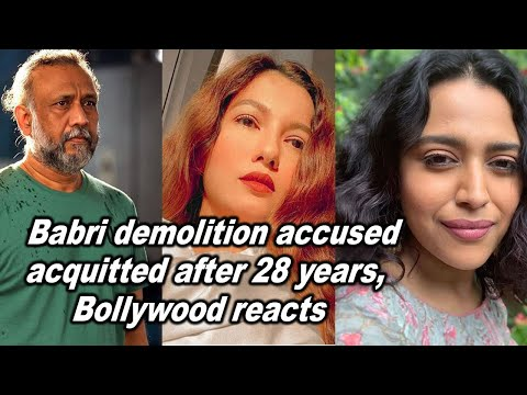 Babri demolition accused acquitted after 28 years, Bollywood reacts