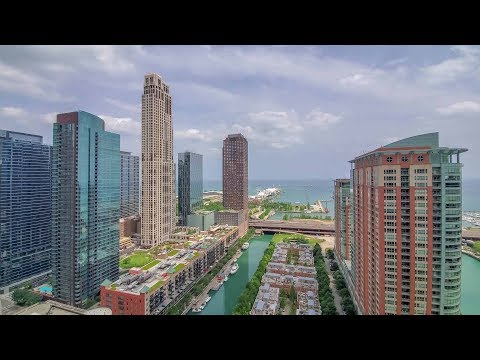 A southeast corner 2-bedroom, 2-bath at Streeterville's North Water tower