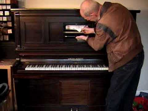 Opening an 88-note Upright Player Piano (by John A Tuttle from Player-Care.com) (видео)