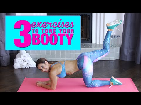 Three Body Weight Exercises To Tone The Butt! | with Natalie Jill!