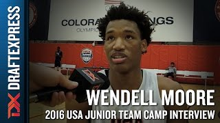 Wendell Moore Interview at USA Basketball Junior National Team Camp
