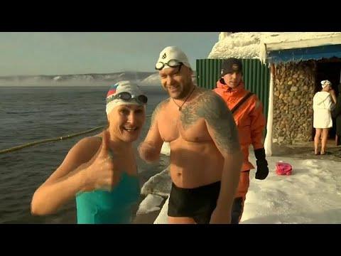 Οι χειμερινοί κολυμβητές της λίμνης Βαϊκάλης