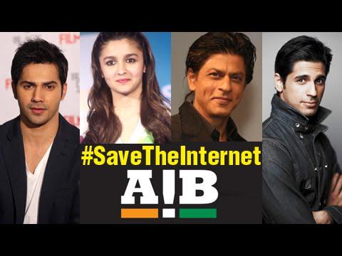 Shahrukh Khan,Varun Dhawan, Alia Bhatt Support AIB