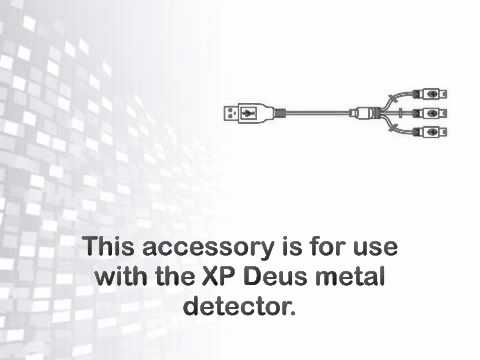XP Deus Cable USB 3 mini B for simultaneously charging the headphone, - metaldetector.com