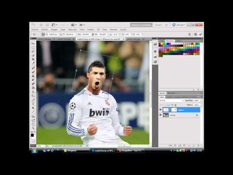 Photoshop CS5 montaje caras  CR7