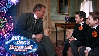 Little Ant and Dec meet Hugh Bonneville