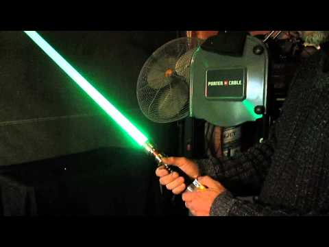 This dude makes quality, replica lightsabers with extremely bright blades.