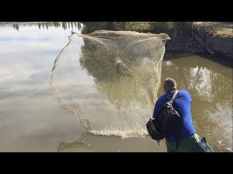 ловля рыбы кастинговой испанской сетью