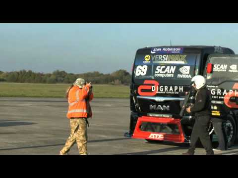 Mike Newman Race Truck Speed Record