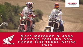Marquez e Barreda sull\'Africa Twin 2016 - Video Novità