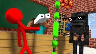 Monster School : AVM SHORTS - STICKMAN CHALLENGE & Epic BOTTLE FLIP CHALLENGE - Minecraft Animation