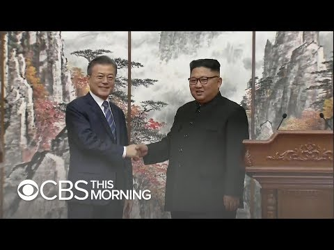 North and South Korea summit: New pledge on nuclear weapons