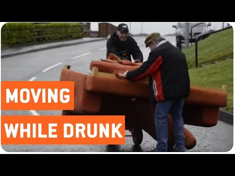 Two Drunks and A Sofa!