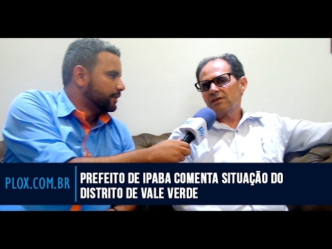 Prefeito de Ipaba comenta situação do distrito de Vale Verde