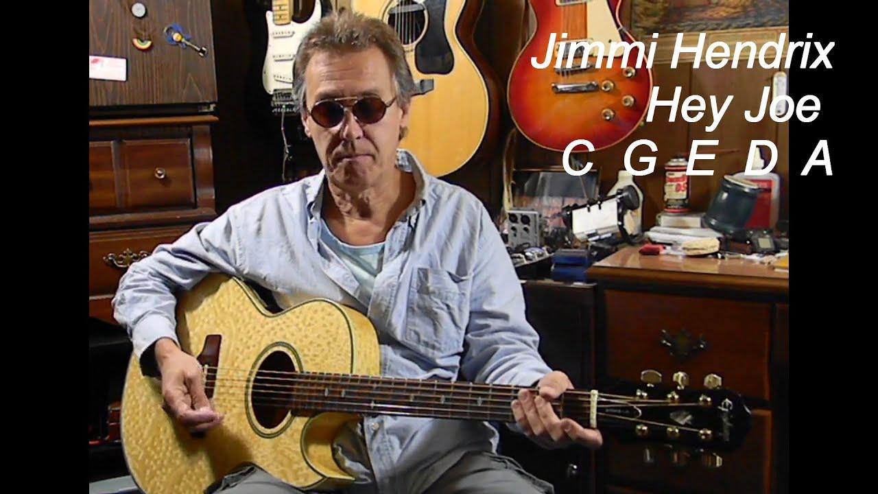 Beginners – How to Play Jimi Hendrix HEY JOE – Easy Guitar Lessons – Easy Songs on Acoustic Guitar
