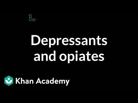 Psychoactive Drugs Depressants And Opiates Video Khan Academy