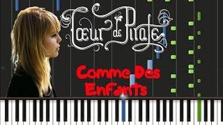 Coeur de Pirate - Comme Des Enfants [Piano Cover Tutorial] (♫)