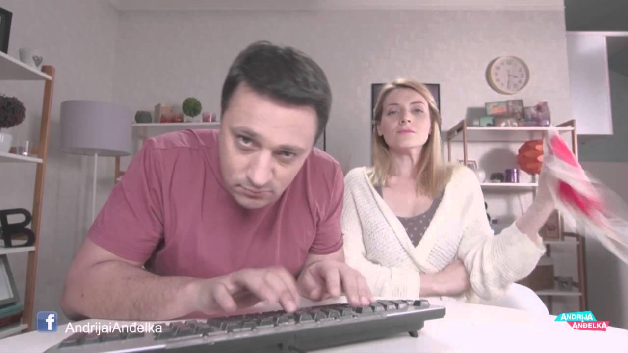Andrija i Andjelka – Virtuoz na tastaturi (glupiranje na setu)