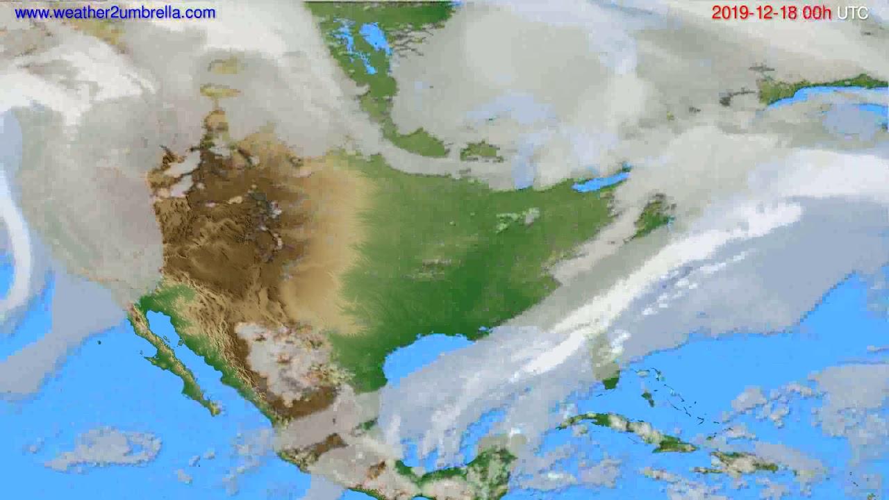 Cloud forecast USA & Canada // modelrun: 00h UTC 2019-12-17
