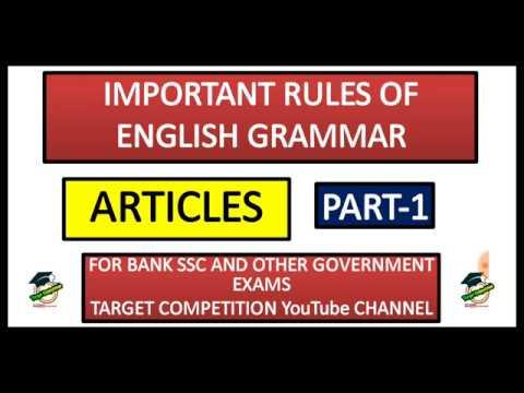 😍Important Rules of English Grammar | RBI Assistant 2019 | SBI Clerk 2020 | SSC CGL CHSL
