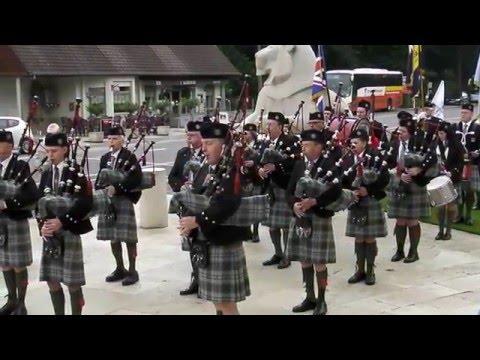 The Sheffield Pipe Band at Ploegsteert Memorial