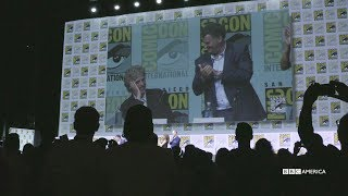 "In this highlight from the Doctor Who Hall H panel at San Diego Comic-Con 2017, Peter Capaldi delights the audience with a heartfelt speech about his co-stars. Subscribe now: http://bit.ly/1aP6Fo9The Doctor (Peter Capaldi) is an alien Time Lord from the planet Gallifrey who travels through all of time and space in his TARDIS with his companion. Instead of dying, the Doctor is able to """"regenerate"""" into a new body, taking on a new personality with each regeneration.Twitter: http://twitter.com/doctorwho_bbcaFacebook: http://www.facebook.com/DoctorWhoTumblr: http://DoctorWho.tumblr.comInstagram: http://instagram.com/doctorwho_bbcaSnapchat: http://snapchat.com/add/bbcamerica_tv"