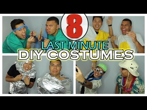 8 Last-Minute DIY Halloween Costume Ideas!! (Very Cheap)