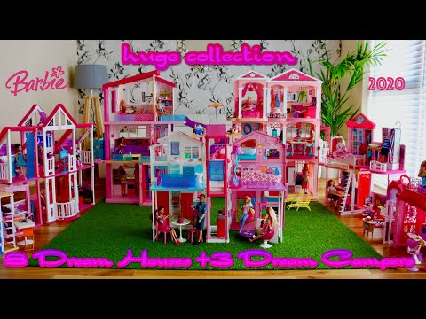Barbie Dream House and Dream Camper Huge Collection 2020, Barbie Dollhouse Tour Barbie Dream Life