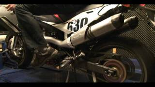 7. husqvarna SM 630 DYNO RUN  - arrow:ecu / 42T open airintake