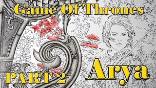 In this video tutorial, I'm coloring Arya Stark from the Game of Thrones Coloring Book by HBO. A gorgeous coloring book that I ...