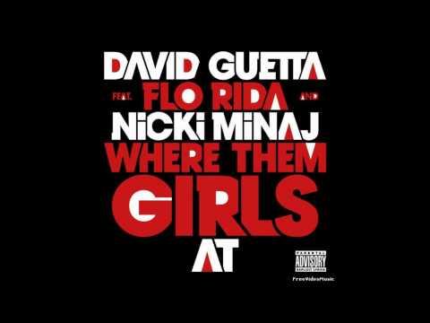 Where Dem Girls At- David Guetta (Feat. Nicki Minaj and Flo Rida) (Clean)