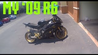 2. My 2009 Yamaha R6 First Bike (Black & Gold Raven)