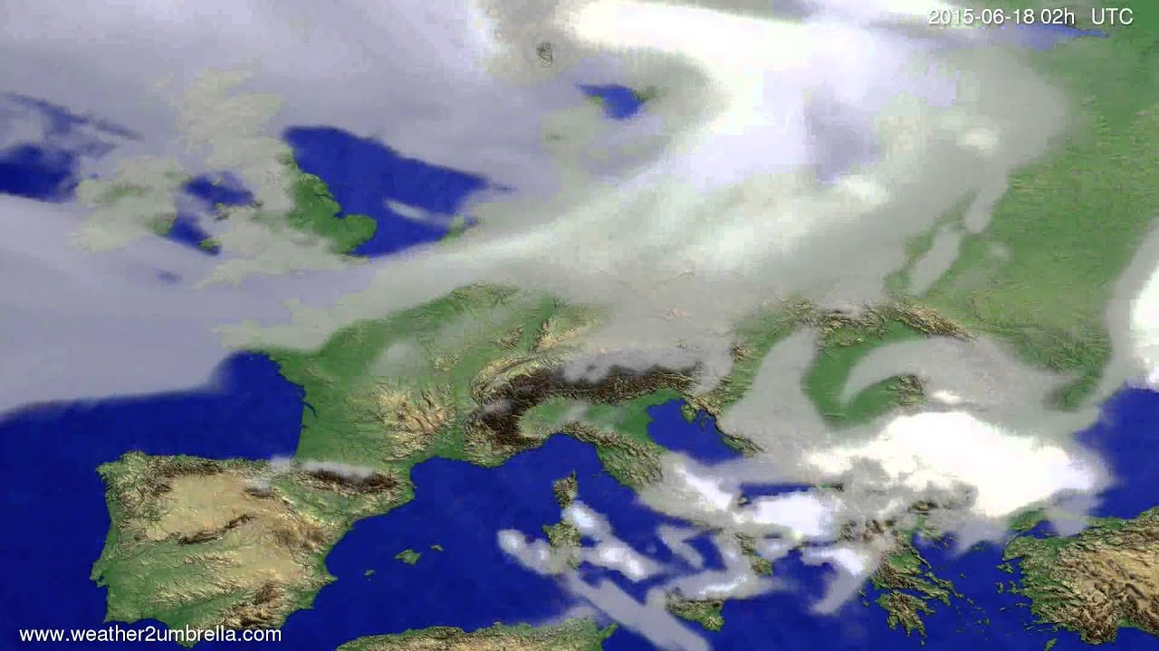 Cloud forecast Europe 2015-06-14