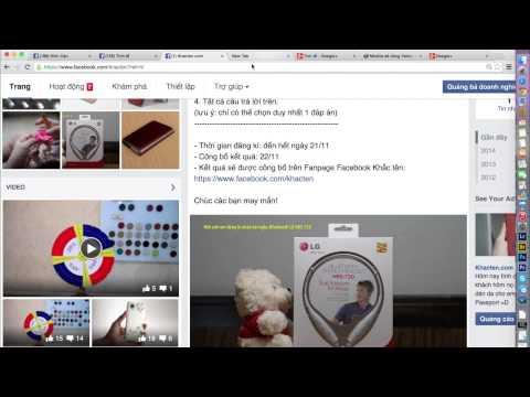 Bốc thăm cuộc thi tặng tai nghe Bluetooth LG HBS - 730