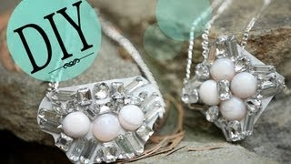 DIY Fashion: How to Make a Statement Bib Necklace {Bottega Veneta Inspired} - YouTube
