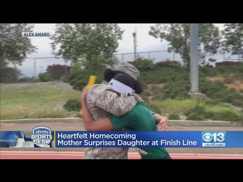 Heartfelt Homecoming: Mother Surprises Daughter At Finish Line