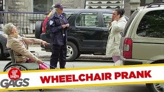 Man In Wheelchair Gets Pulled By Car Prank