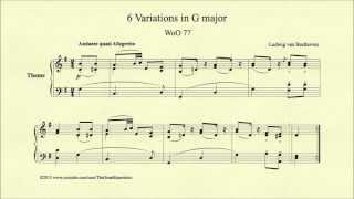 Beethoven, 6 Variations in G major, WoO 77, Theme