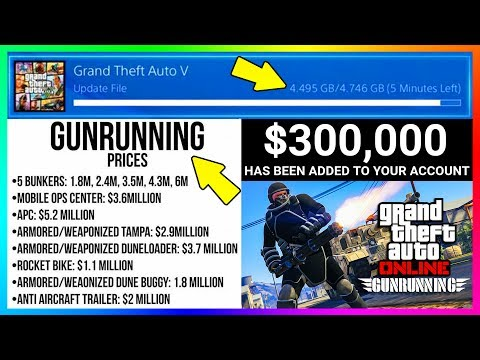 GTA ONLINE GUNRUNNING DLC RELEASE TIME, NEW INFORMATION, CONTENT PRICES, FREE MONEY & MORE! (GTA 5)