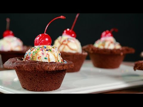 Brownie Ice Cream Bowls   Get the Dish