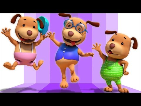 Five Little Dogs | 3d Rhymes | Baby Songs | Nursery Rhymes By Farmees