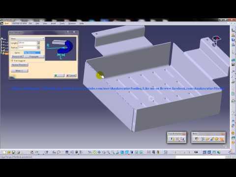 Catia V5 Tutorial|Generative SheetMetal WB|Swept Walls|Create Hem|Basic|Spine and Trim Support
