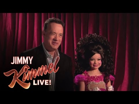 spoof - Jimmy Kimmel Live - The fourth part of Jimmy's interview with Tom Hanks where he shares a clip of Toddlers & Tiaras.