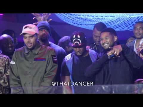 Usher Crashes Chris Brown's Birthday Party In Miami
