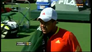 Tsonga Stepanek clash
