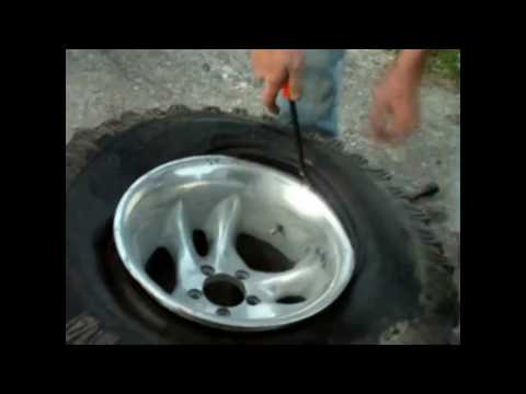 rim tyre - We had a set of new rims for my bro's Jeep, and no machine to change them with, so we did it old school style, figured it'd be a good learning experience for...