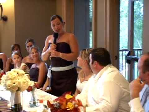 Best Funny Maid-of-Honor Speach at Denise & Bryce Reception