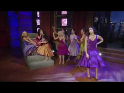 karen olivo - Karen Olivo and the girls of WSS visit Regis and Kelly and perform