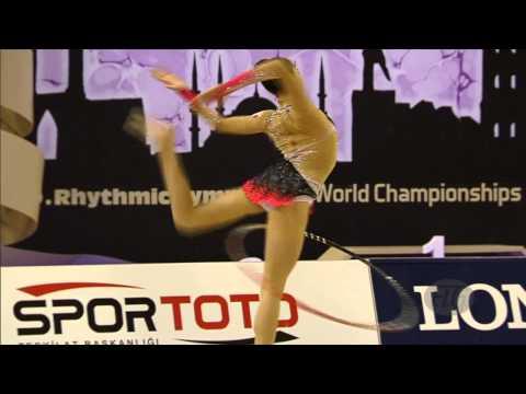 KHATTAB Nourhal Hatem (EGY) - 2014 Rhythmic Worlds, Izmir (TUR) - Qualifications Hoop (видео)