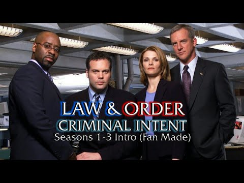 Law & Order: Criminal Intent: Seasons 1-3 Intro (Fan Made) (Requested)